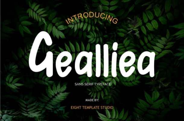 Gealliea Script Font