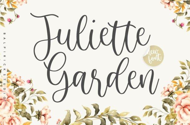 Juliette Garden Calligraphy Script Font