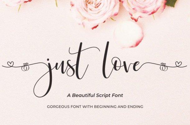 Just Love Script Font