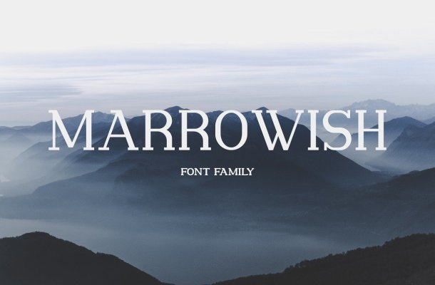 Marrowish Slab Serif Font