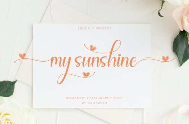 My Sunshine Calligraphy Font