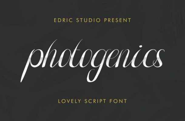 Photogenics Luxury Script Font