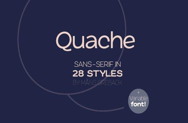 Quache Sans Serif Font Family