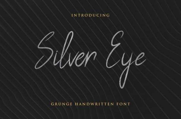 Silver Eye Handwritten Font