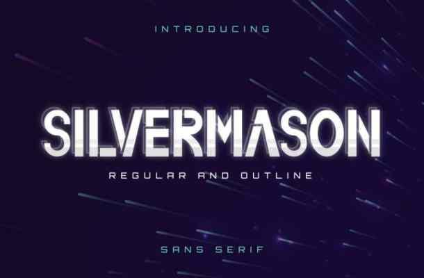Silvermason Sans Serif Font
