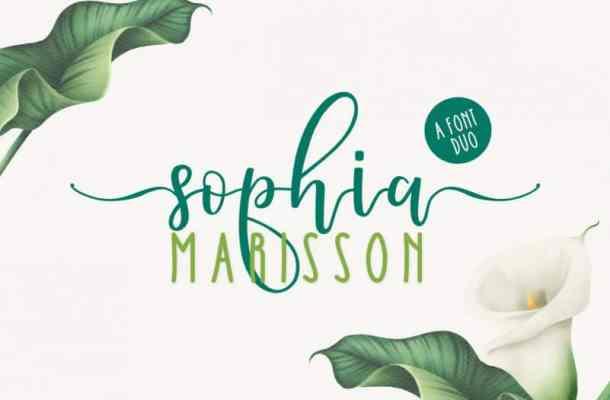 Sophia Marisson Script Font Duo