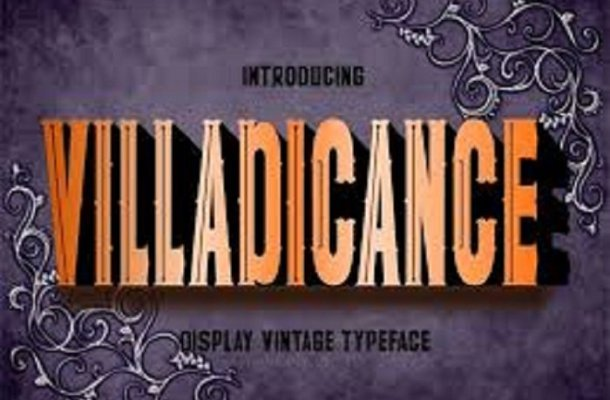 Villadicance Display Font