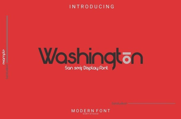 Washington Sans Display Font
