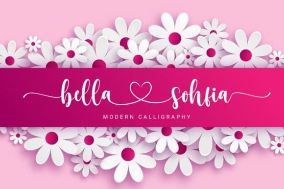 Bella Sohfia Script Font