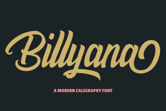 Billyana Script Font