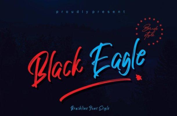 Black Eagle Brush Font