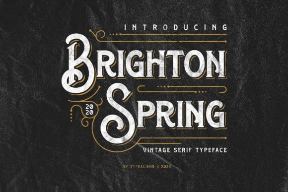Brighton Spring Display Font