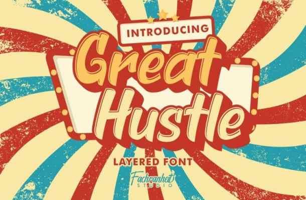 Great Hustle Display Font