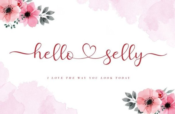 Hello Selly Calligraphy Font