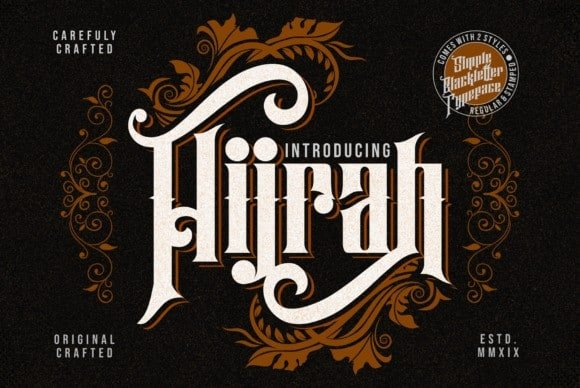 Hijrah Display Font