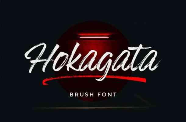 Hokagata Brush Script Font
