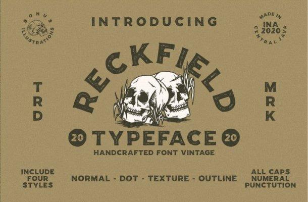 Reckfield Display Font