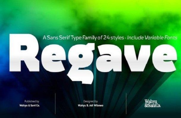 Regave Sans Serif Font
