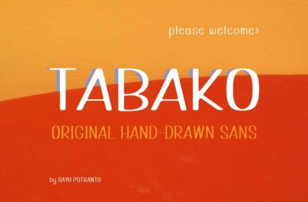Tabako Free Font