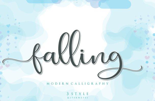 Falling Modern Calligraphy Font