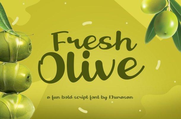 Fresh Olive Handwritten Script Font