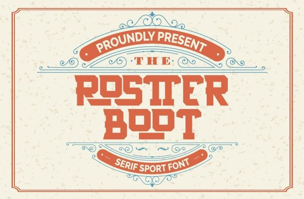 Rostter Boot Serif Sport Font