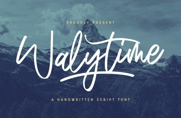 Walytime Handwritten Script Font