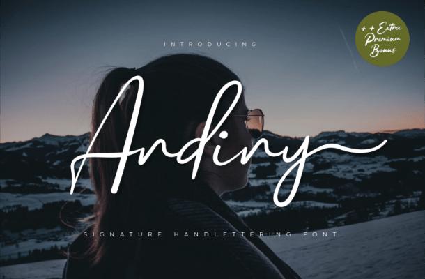 Andiny Script Font Free