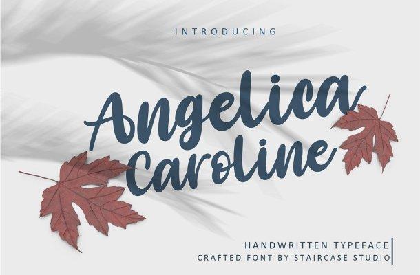 Angelica Caroline Handwritten Script Typeface