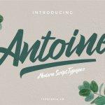 Antoine Script Font Free