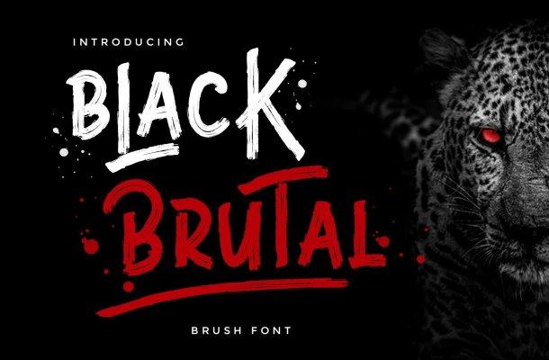 Black Brutal Brush Script Font