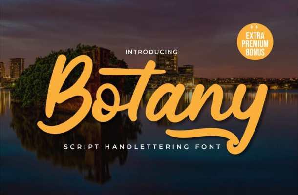 Botany Script Font Free