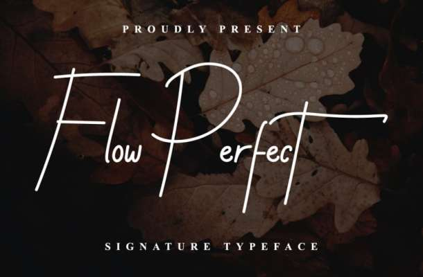 Flow Perfect Signature Font