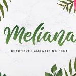 Meliana Handwritten Script Font