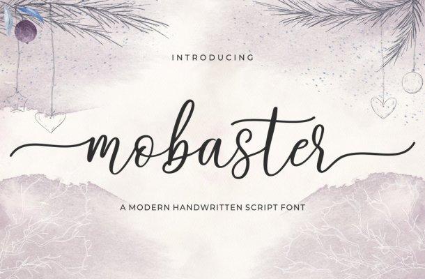 Mobaster Modern Handwritten Script Font
