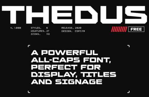 Thedus Display Font Free