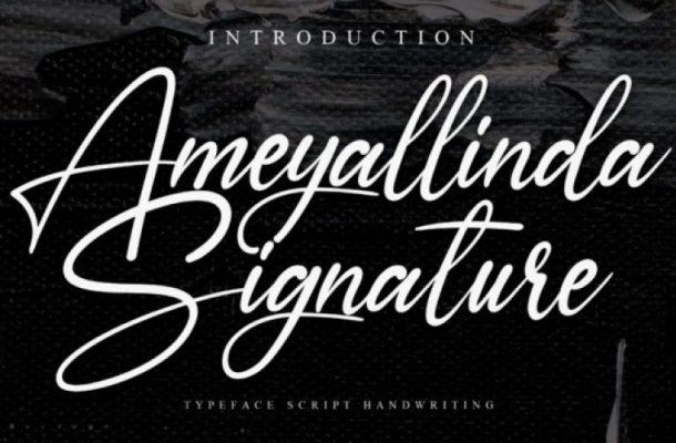 Ameyallinda Signature Script Font
