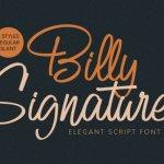 Billy Signature Script Font