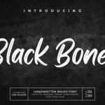 Black Bones Brush Font