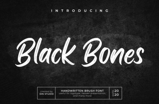 Black Bones Brush Font