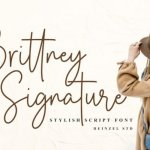 Brittney Signature Handwritten Font
