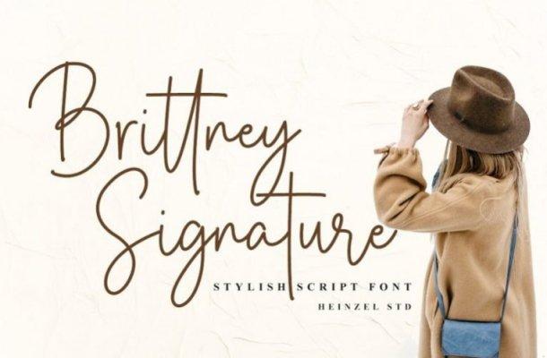 Brittney Signature Handwritten Font