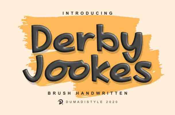 Derby Jookes Display Font