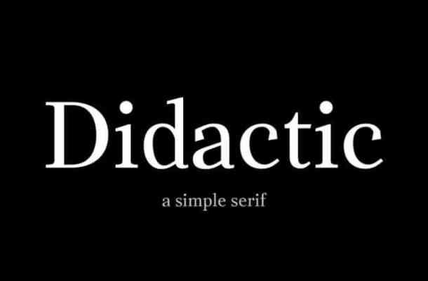 Didactic Serif Font Free