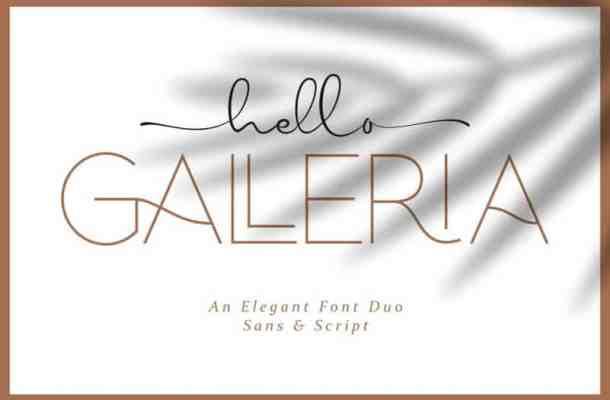 Hello Galleria Font Duo