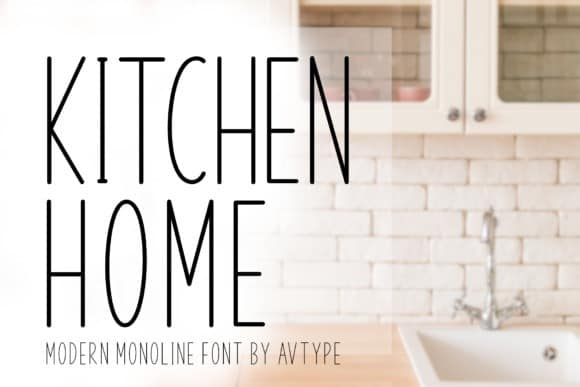 Kitchen Home Sans Serif Font