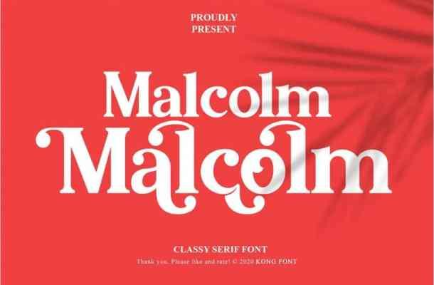 Malcolm Serif Font Free
