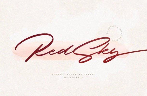 RedSky Script Font Free