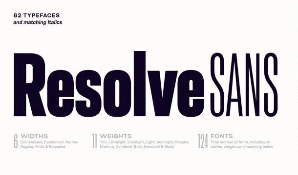 Resolve Sans Serif Font Demo
