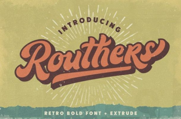 Routhers Script Font